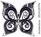 butterfly. page of coloring... | Shutterstock .eps vector #2014120796