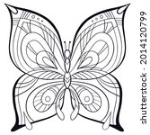 butterfly. page of coloring... | Shutterstock .eps vector #2014120799