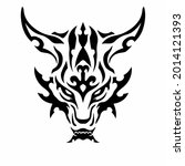 tribal dragon head logo. tattoo ... | Shutterstock .eps vector #2014121393