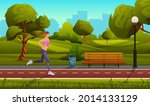 young sports woman run in city... | Shutterstock .eps vector #2014133129