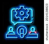 hosts microphone gear neon... | Shutterstock .eps vector #2014138823