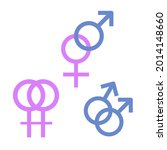 lesbian and gay symbols on a...   Shutterstock .eps vector #2014148660