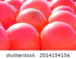 Red Or Pink Life Buoy Balls On...