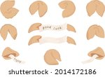 set of fortune chinese fortune...   Shutterstock .eps vector #2014172186