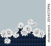 white vector stock flowers... | Shutterstock .eps vector #2014172996