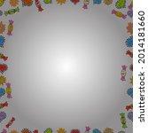 seamless pattern. doodles frame ... | Shutterstock .eps vector #2014181660