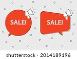 set of two templates sale signs | Shutterstock .eps vector #2014189196