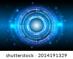 futuristic sci fi glowing hud... | Shutterstock .eps vector #2014191329
