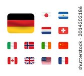 set of flag icon. united states ... | Shutterstock .eps vector #2014202186