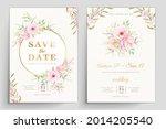 beautiful wedding invitation... | Shutterstock .eps vector #2014205540