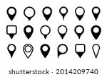 pin icon for map location.... | Shutterstock .eps vector #2014209740