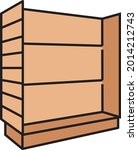 wooden slatwall display concept ... | Shutterstock .eps vector #2014212743
