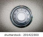 safe dial lock close up... | Shutterstock . vector #201422303