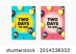 2 days to go text. flyer... | Shutterstock .eps vector #2014238333