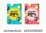 get extra 20 percent off sale.... | Shutterstock .eps vector #2014238360