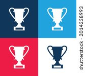 award trophy blue and red four... | Shutterstock .eps vector #2014238993