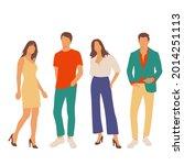 set of young men and women ...   Shutterstock .eps vector #2014251113