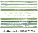 long ink brush strokes isolated ...   Shutterstock .eps vector #2014275716
