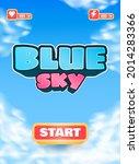 funny blue sky game ui vertical ...