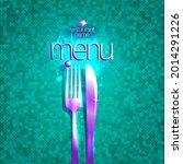 restaurant menu card cover... | Shutterstock . vector #2014291226
