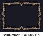 art deco frame. vintage linear... | Shutterstock .eps vector #2014302116