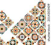 ceramic tile abstract pattern.... | Shutterstock .eps vector #2014303409