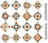 ceramic tile abstract pattern.... | Shutterstock .eps vector #2014303430