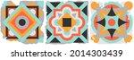 ceramic tile abstract pattern.... | Shutterstock .eps vector #2014303439
