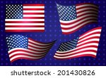 collection of american flags... | Shutterstock .eps vector #201430826