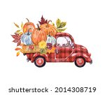 Red Buffalo Plaid Truck With...