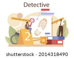 professional detective concept. ... | Shutterstock .eps vector #2014318490