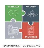 gaas   generally accepted audit ... | Shutterstock .eps vector #2014332749