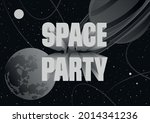 space party banner  retro...   Shutterstock .eps vector #2014341236