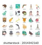 new zealand symbol  thin line...   Shutterstock .eps vector #2014342160