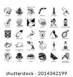 new zealand symbol  thin line...   Shutterstock .eps vector #2014342199