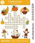 vector thanksgiving crossword...   Shutterstock .eps vector #2014352309
