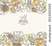 background with maitake  piece... | Shutterstock .eps vector #2014352333