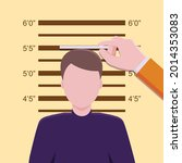he was measuring his height to...   Shutterstock .eps vector #2014353083