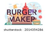 burger maker typographic header.... | Shutterstock .eps vector #2014354286