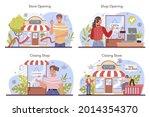 commercial activities set.... | Shutterstock .eps vector #2014354370