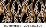 seamless zebra skin with wavy... | Shutterstock .eps vector #2014361609