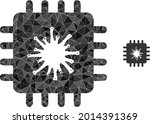 triangle infected chip...   Shutterstock .eps vector #2014391369