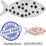 mesh polygonal fish icons...   Shutterstock .eps vector #2014391393