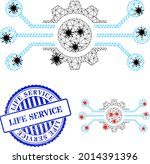 mesh polygonal digital machine...   Shutterstock .eps vector #2014391396