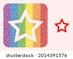 dot mosaic contour star carved...   Shutterstock .eps vector #2014391576