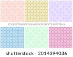 collection of vector colorful... | Shutterstock .eps vector #2014394036