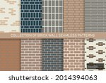 collection of brick wall... | Shutterstock .eps vector #2014394063