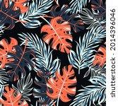 original seamless tropical... | Shutterstock .eps vector #2014396046