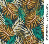 fashionable seamless tropical... | Shutterstock .eps vector #2014396049