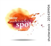 vector watercolor spot.... | Shutterstock .eps vector #201439904